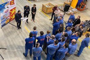 AMF, adhérent SOTRABAN reçoit Hervé MORIN, président de la Région Normandie